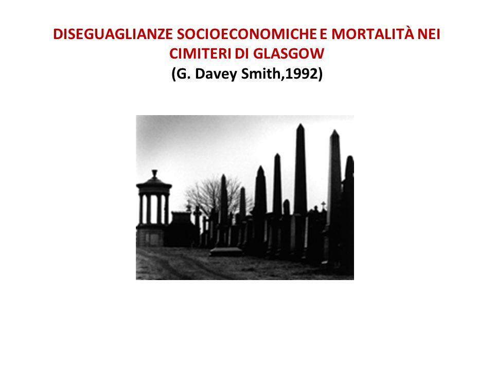 DISEGUAGLIANZE SOCIOECONOMICHE E MORTALITÀ NEI CIMITERI DI GLASGOW (G