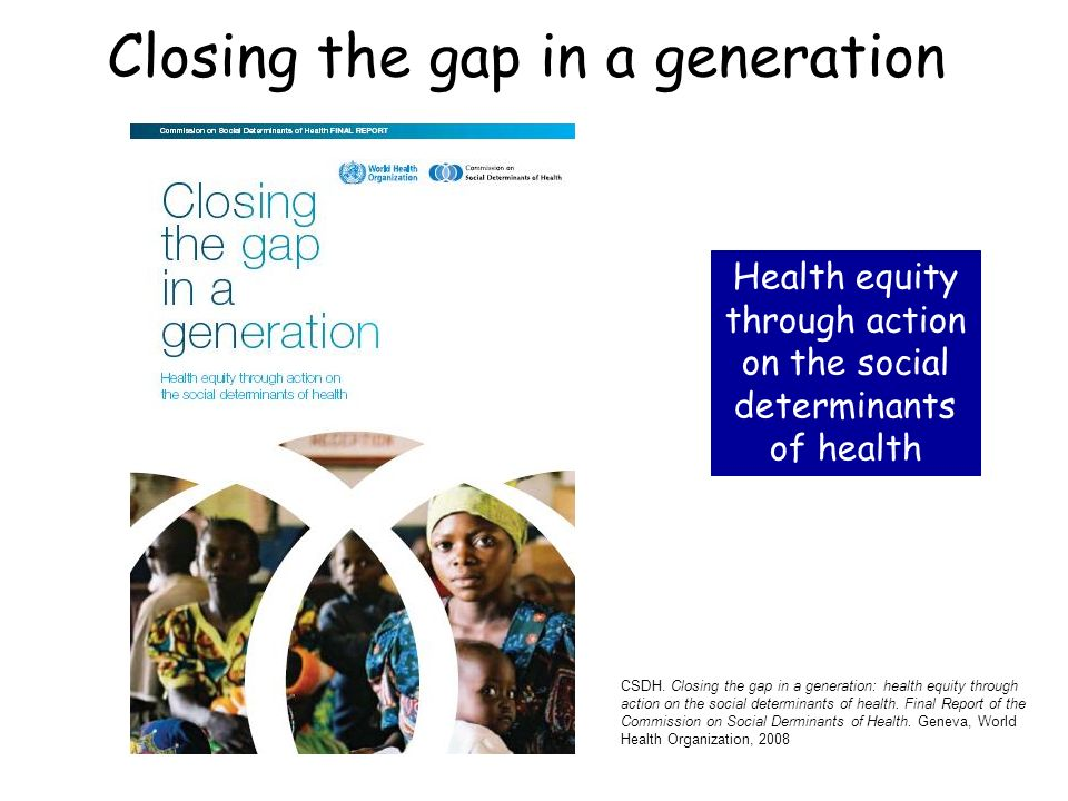 Closing the gap in a generation