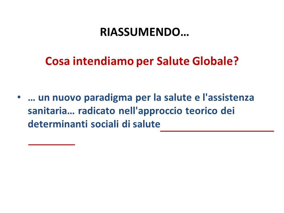 Cosa intendiamo per Salute Globale