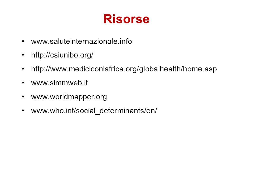 Risorse www.saluteinternazionale.info http://csiunibo.org/