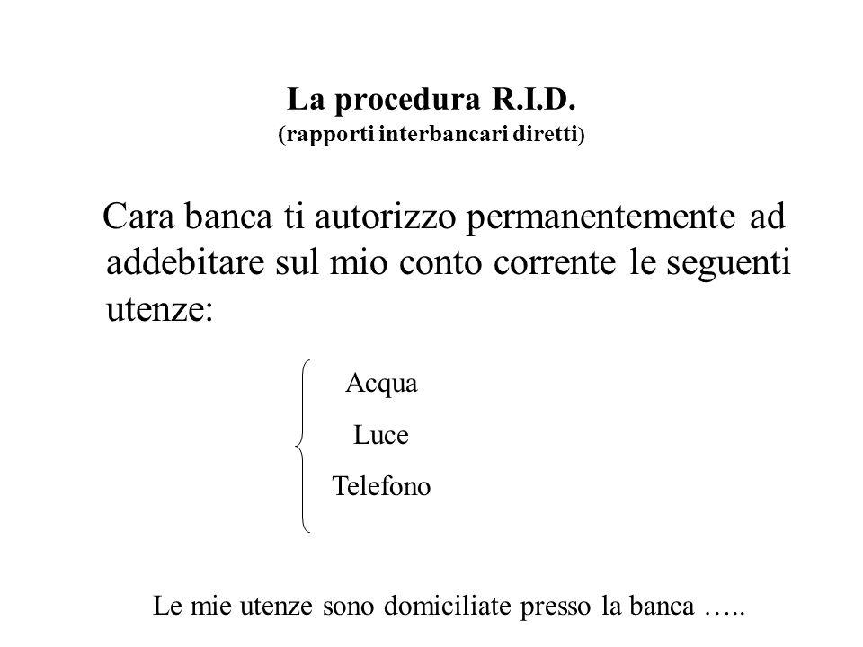 La procedura R.I.D. (rapporti interbancari diretti)