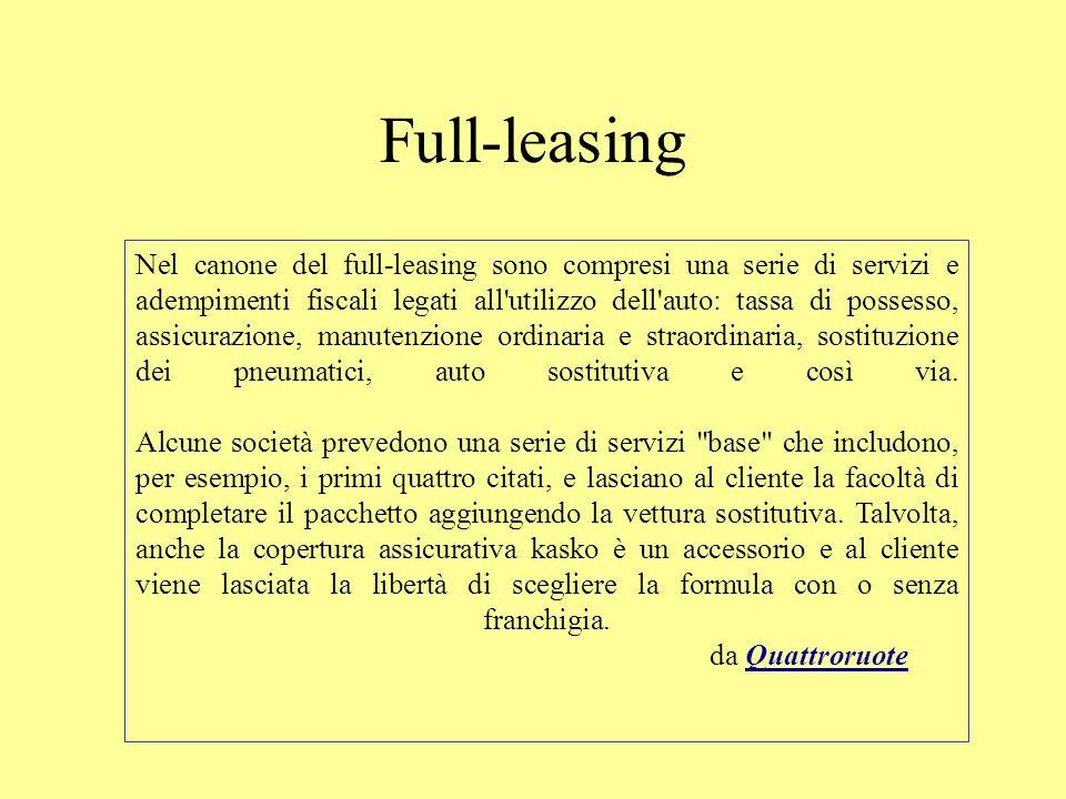 Full-leasing