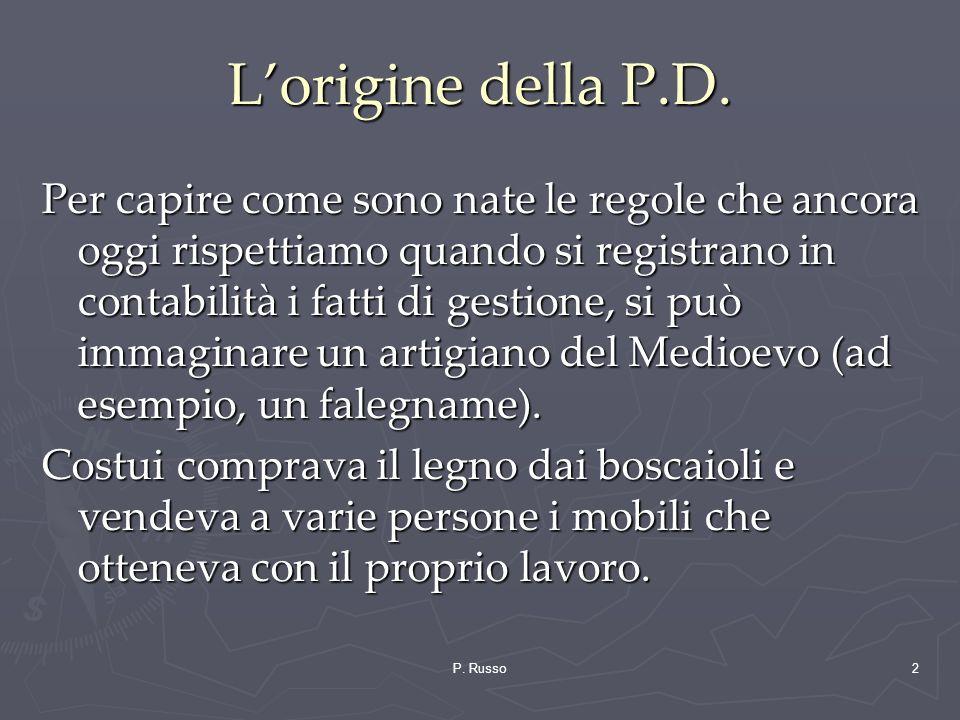 L'origine della P.D.
