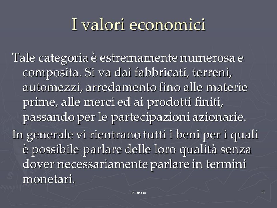 I valori economici