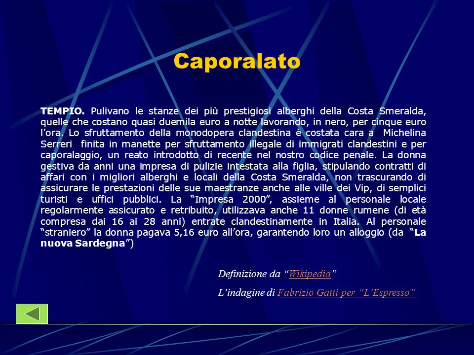 Caporalato Definizione da Wikipedia