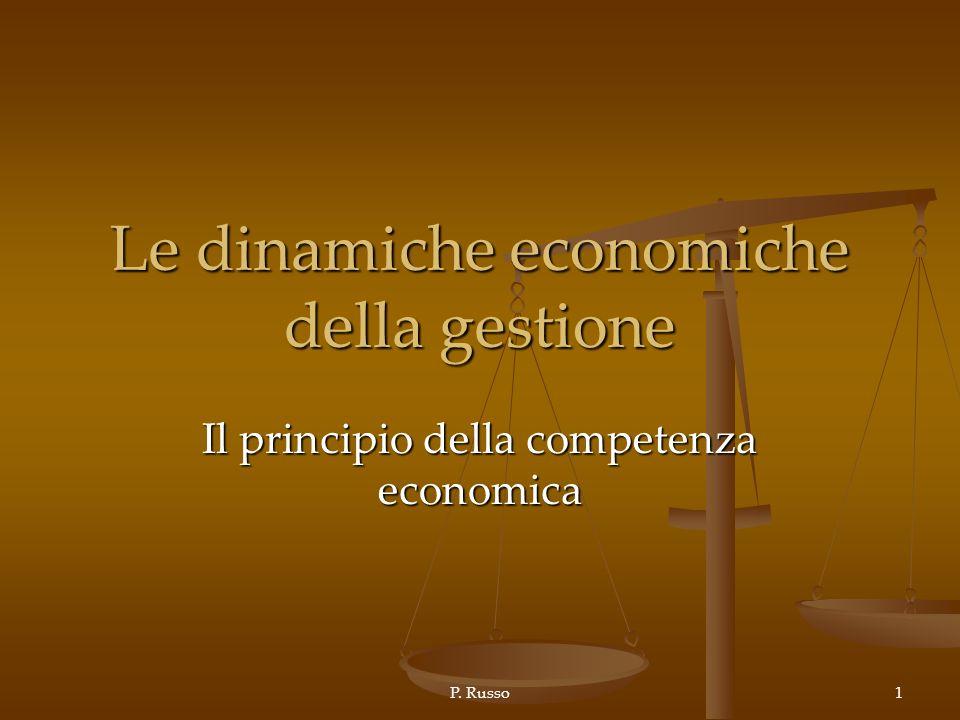 Le dinamiche economiche della gestione
