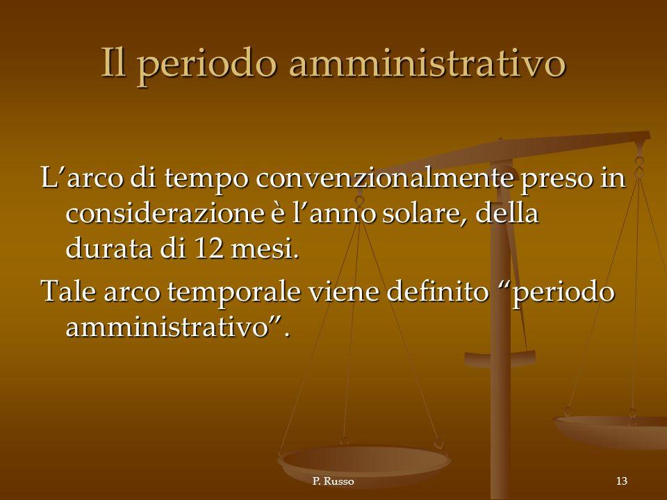 Il periodo amministrativo