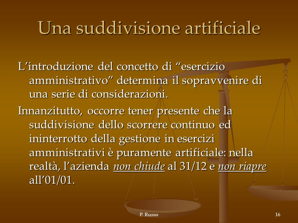 Una suddivisione artificiale