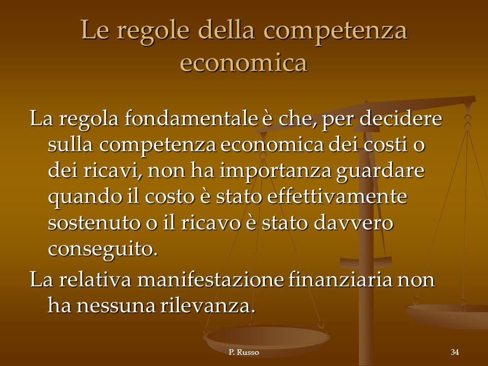 Le regole della competenza economica