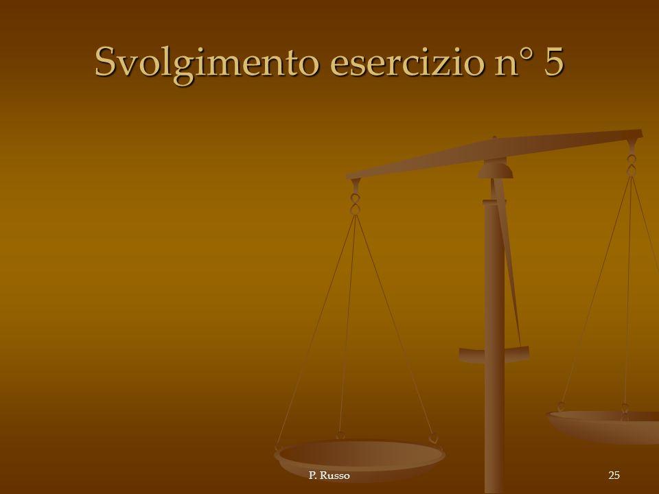 Svolgimento esercizio n° 5