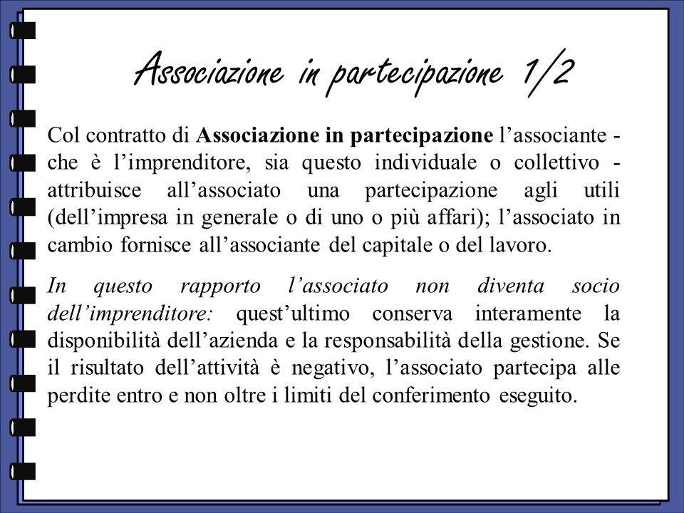 Associazione in partecipazione 1/2