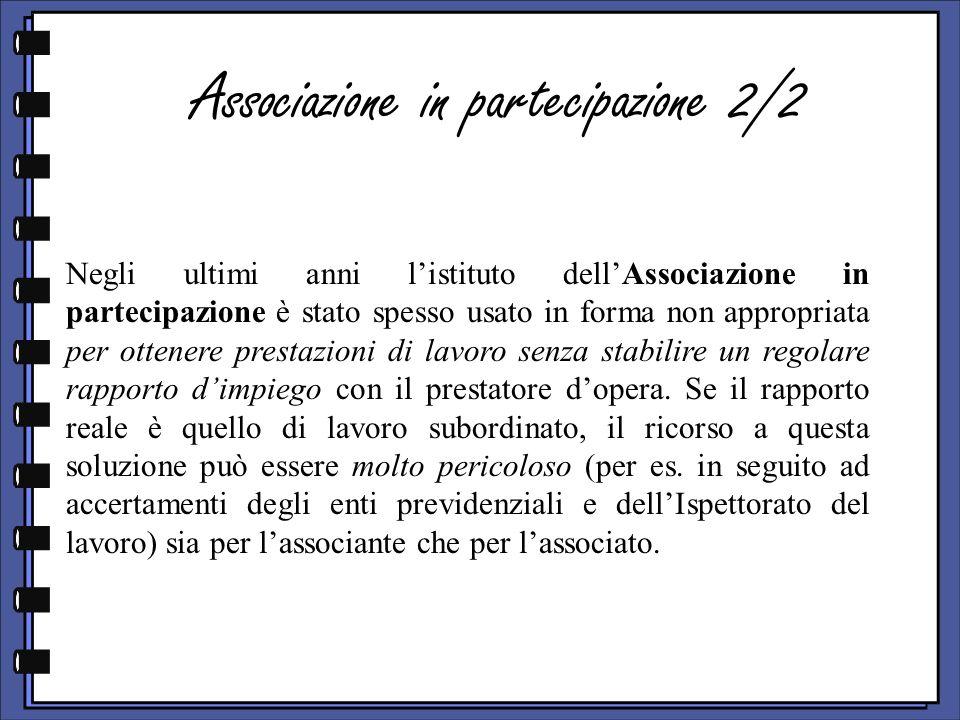 Associazione in partecipazione 2/2