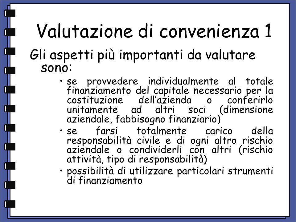 Valutazione di convenienza 1
