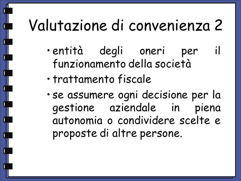 Valutazione di convenienza 2