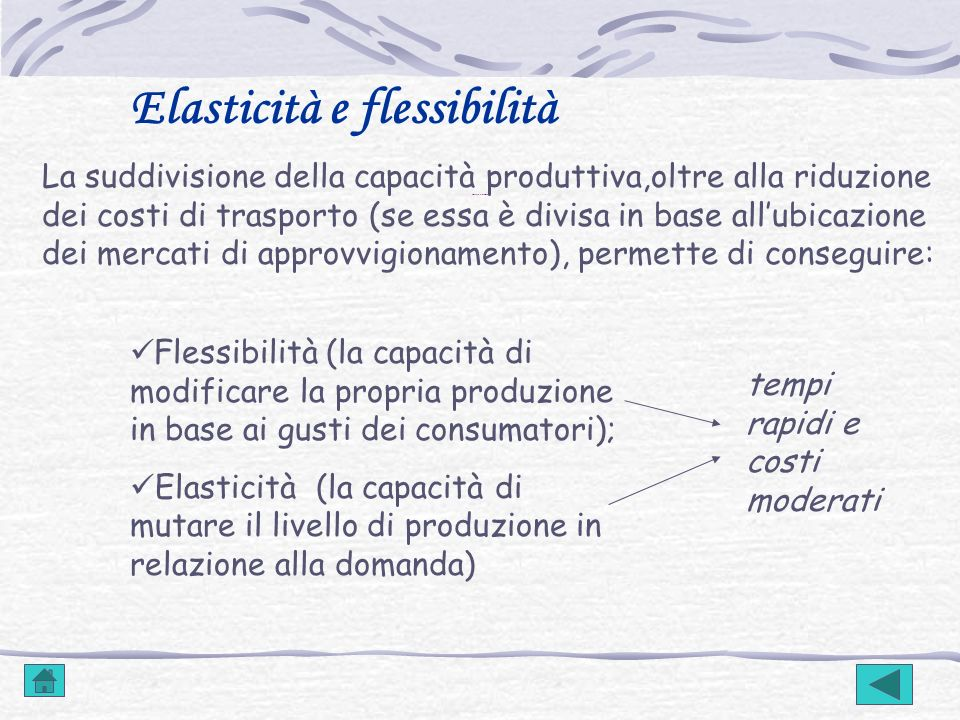 Elasticità e flessibilità