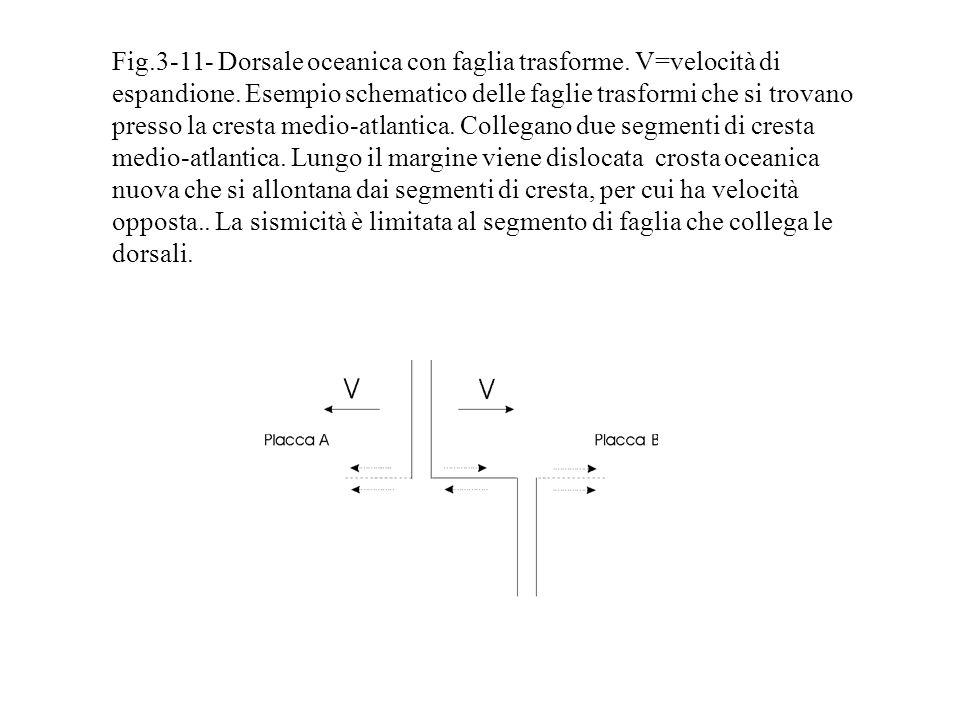 Fig. 3-11- Dorsale oceanica con faglia trasforme