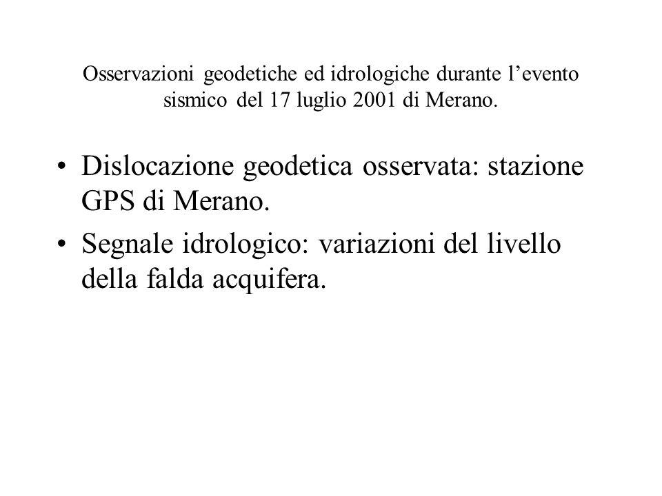 Dislocazione geodetica osservata: stazione GPS di Merano.