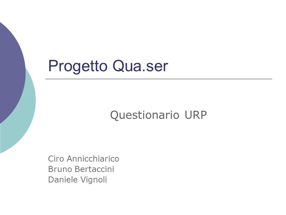 Questionario URP Ciro Annicchiarico Bruno Bertaccini Daniele Vignoli