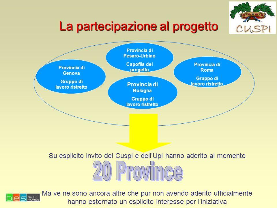 La partecipazione al progetto