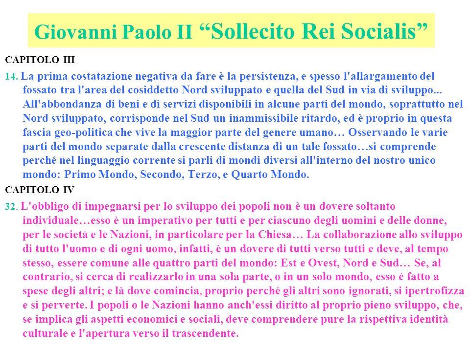 Giovanni Paolo II Sollecito Rei Socialis