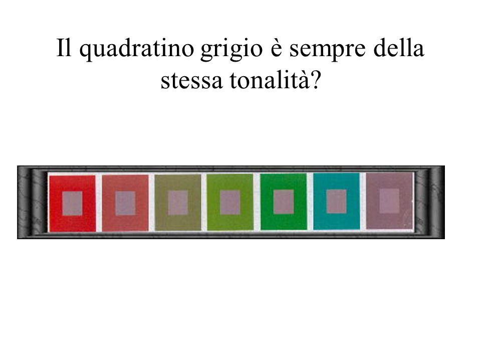 Il quadratino grigio è sempre della stessa tonalità