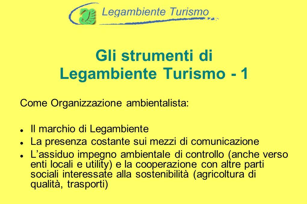 Gli strumenti di Legambiente Turismo - 1