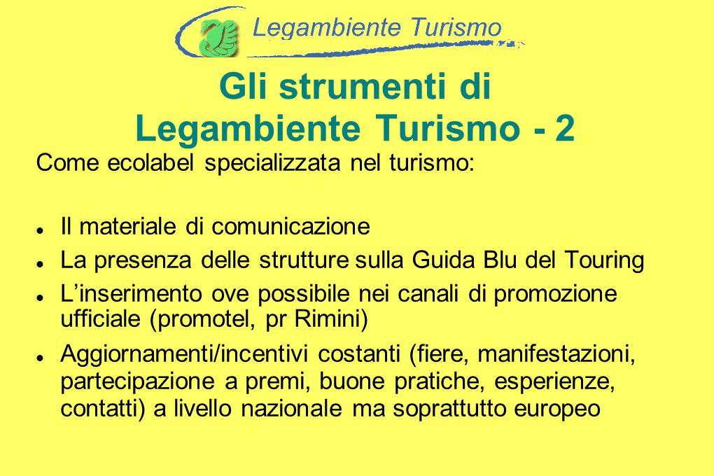 Gli strumenti di Legambiente Turismo - 2