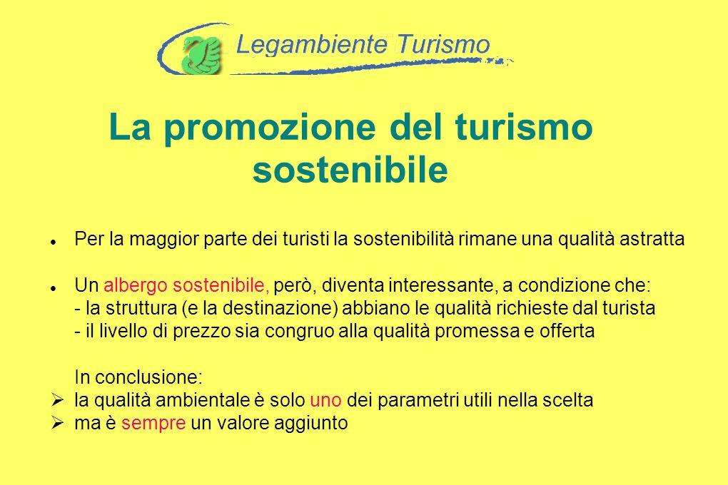 La promozione del turismo sostenibile