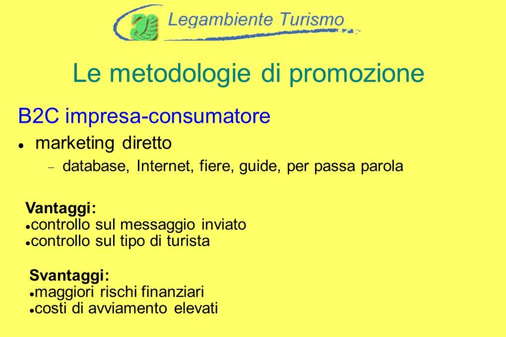 Le metodologie di promozione