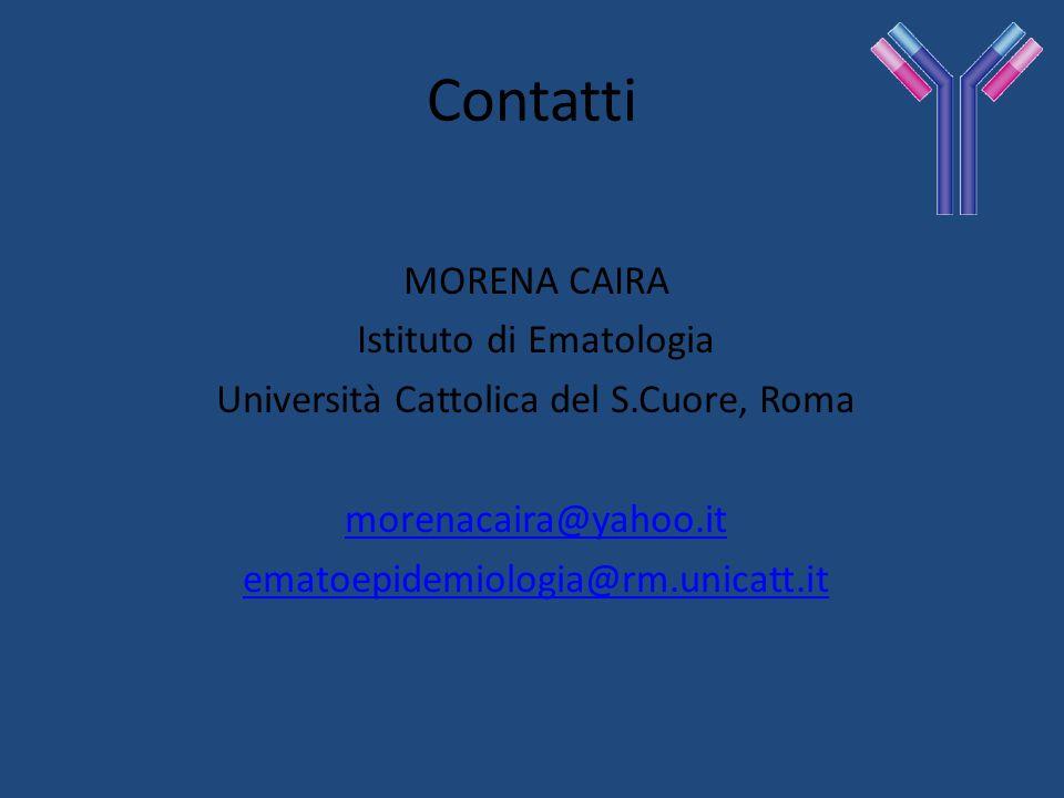 Contatti MORENA CAIRA Istituto di Ematologia
