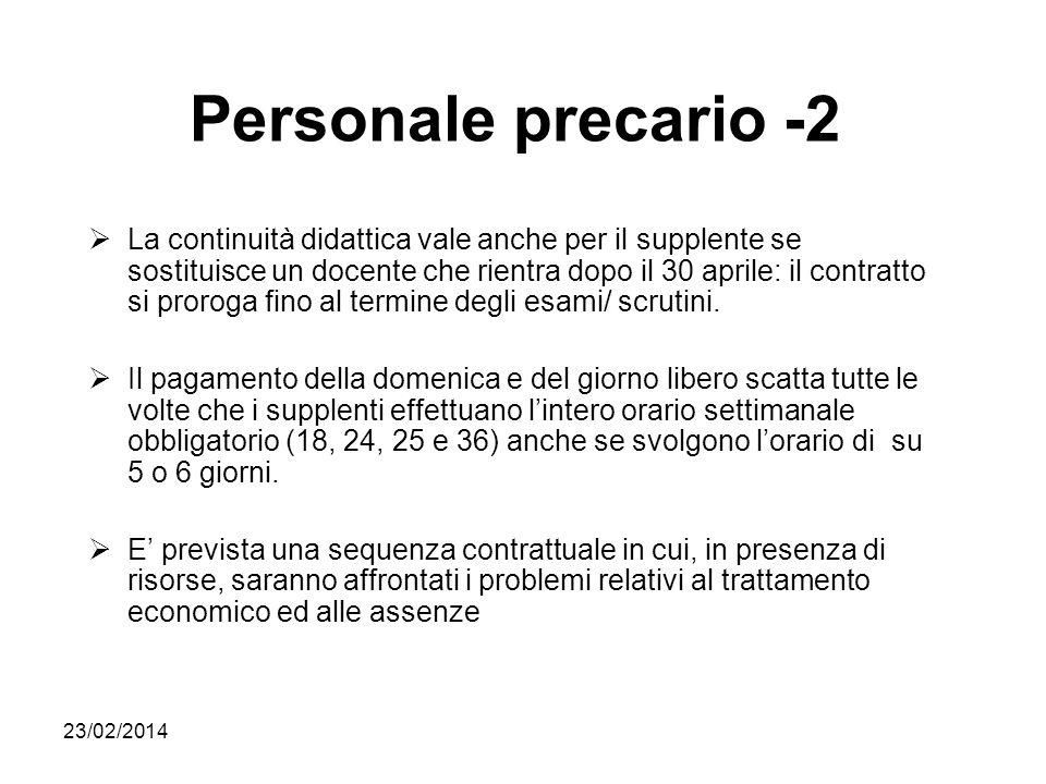 Personale precario -2