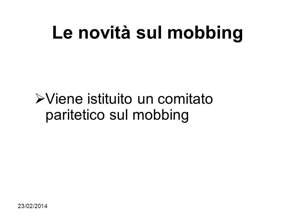 Le novità sul mobbing Viene istituito un comitato paritetico sul mobbing 27/03/2017