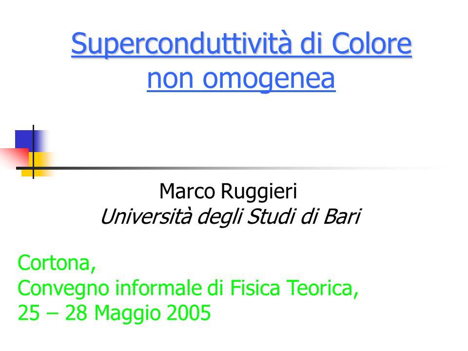 Superconduttività di Colore non omogenea