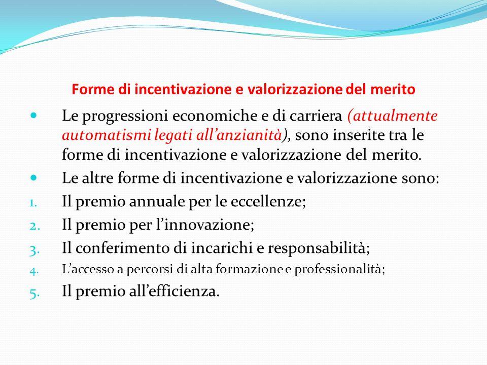 Forme di incentivazione e valorizzazione del merito