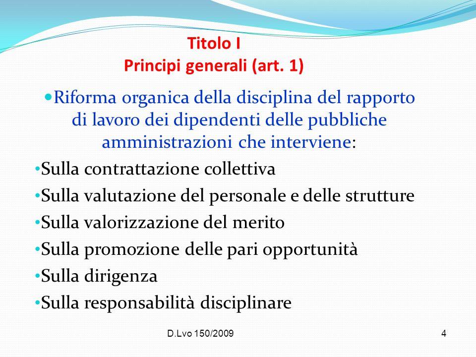Titolo I Principi generali (art. 1)