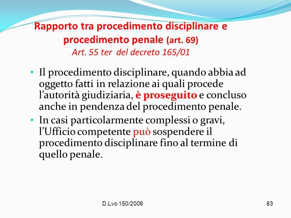 Rapporto tra procedimento disciplinare e procedimento penale (art