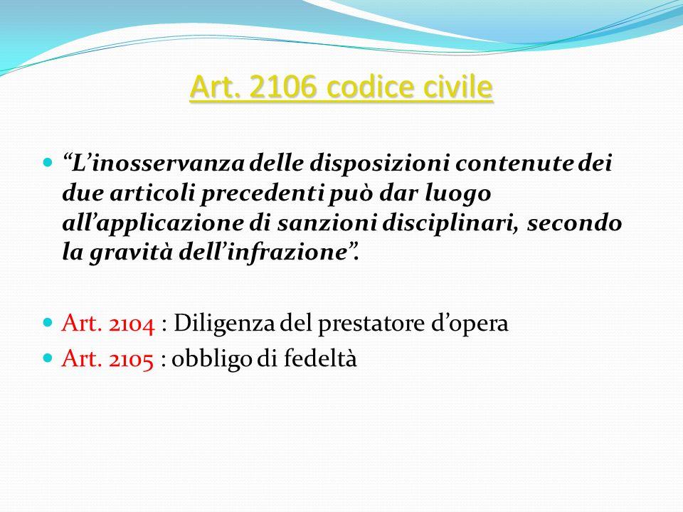 Art. 2106 codice civile