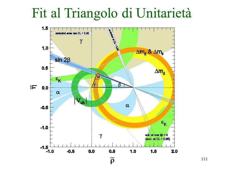 Fit al Triangolo di Unitarietà