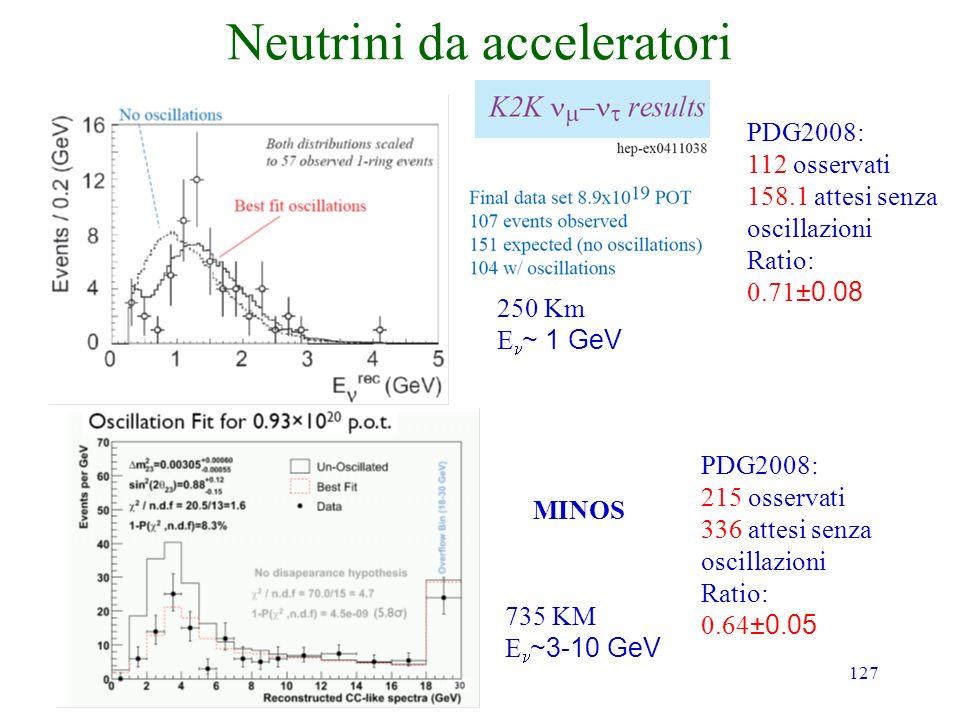 Neutrini da acceleratori