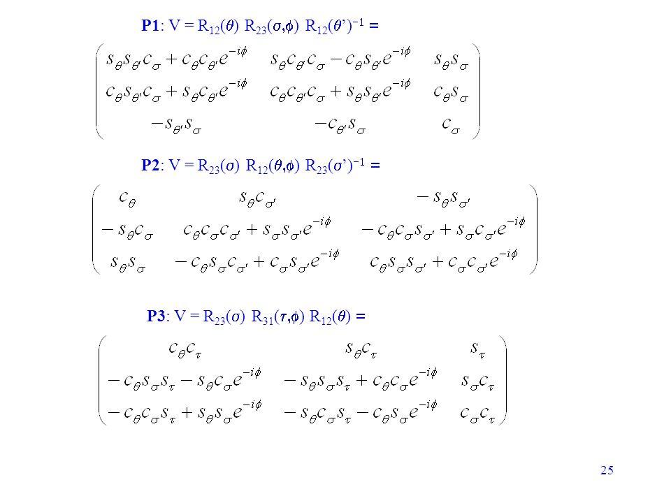 P1: V = R12(q) R23(s,f) R12(q')-1 =