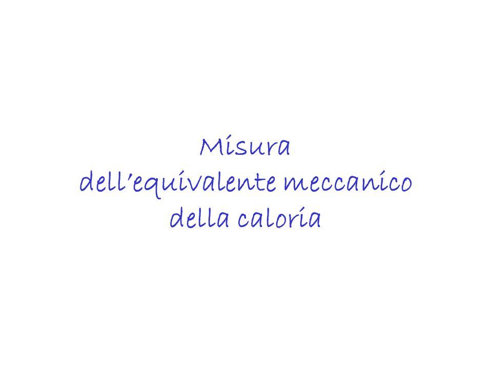Misura dell'equivalente meccanico della caloria