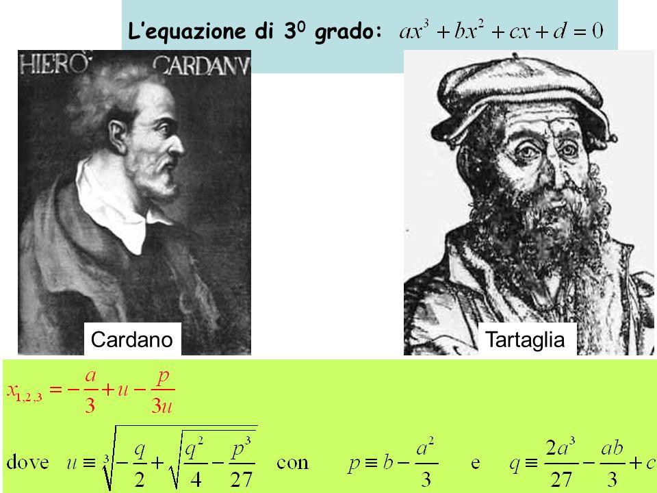 L'equazione di 30 grado: Cardano Tartaglia