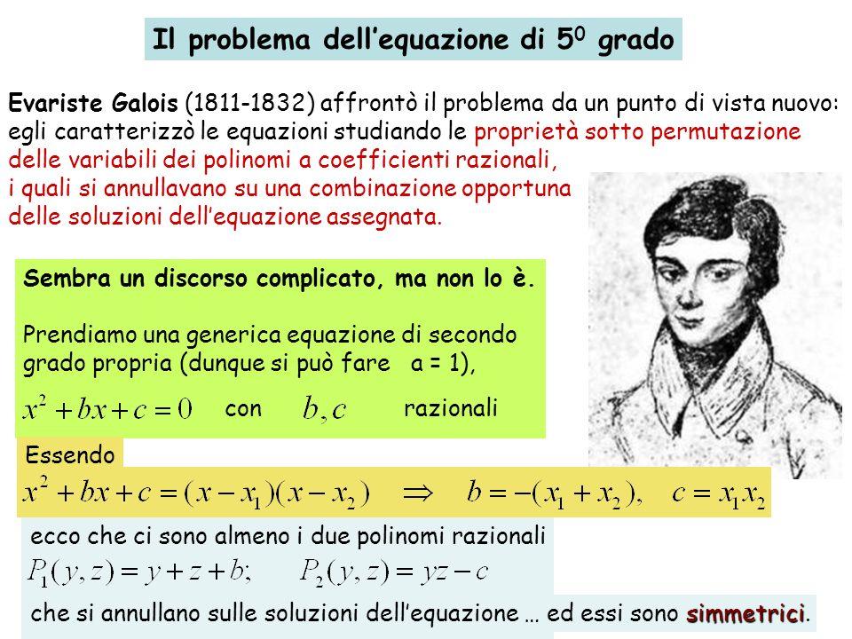 Il problema dell'equazione di 50 grado