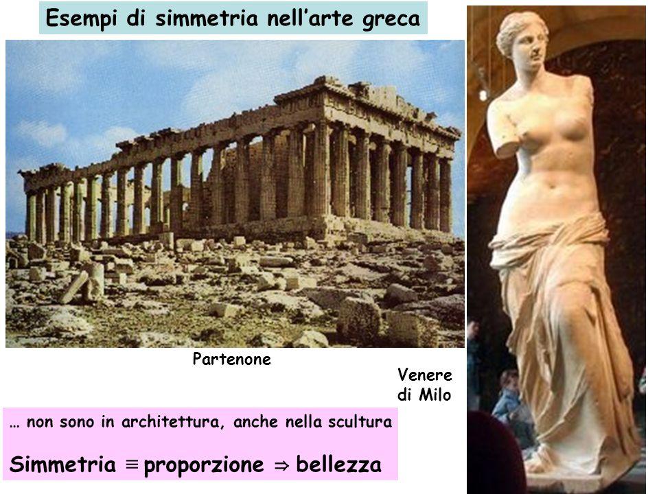 Esempi di simmetria nell'arte greca