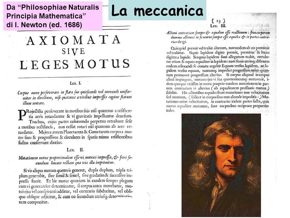 La meccanica Da Philosophiae Naturalis Principia Mathematica