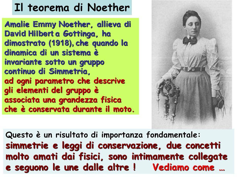 Il teorema di Noether simmetrie e leggi di conservazione, due concetti