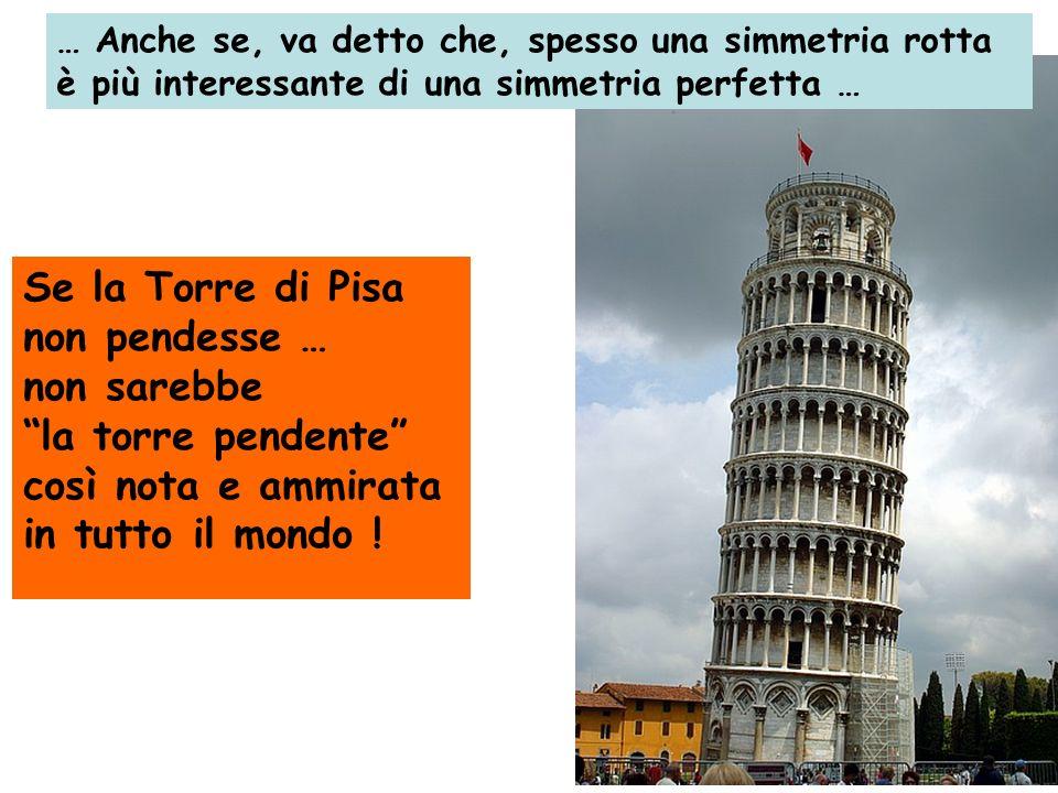 Se la Torre di Pisa non pendesse … non sarebbe la torre pendente