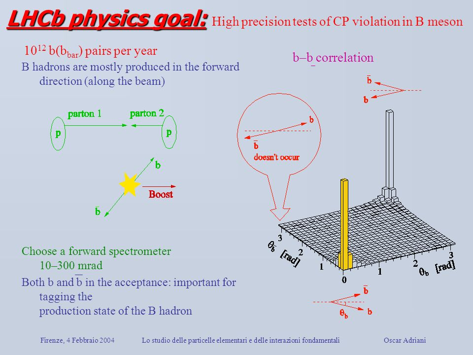 LHCb physics goal: High precision tests of CP violation in B meson