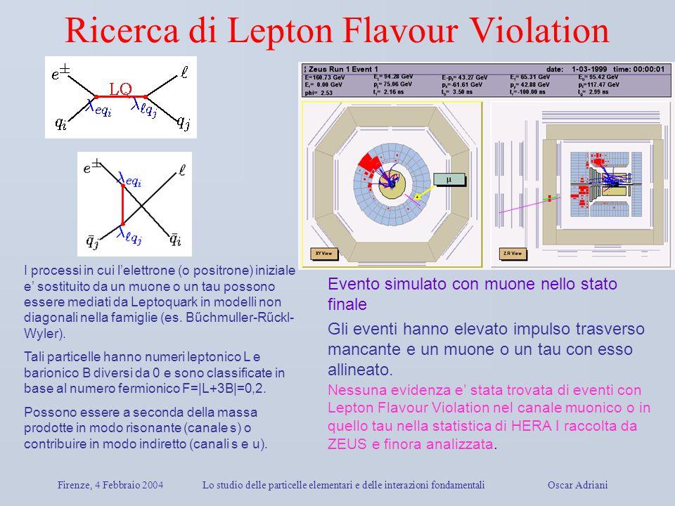 Ricerca di Lepton Flavour Violation