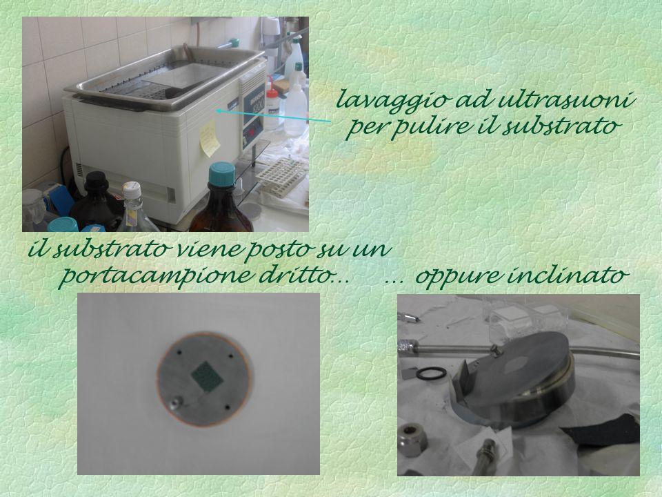 lavaggio ad ultrasuoni per pulire il substrato